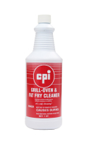 CPI Grill Oven Fat Fry Cleaner Liquid, Food Service Cleaning, CPI