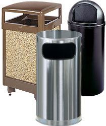 waste receptacles - Commercial Garbage Cans