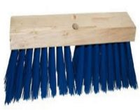 "24"" HD STREET BROOM W/ BLUE PLASTIC, Brooms & Squeeges, CPI"